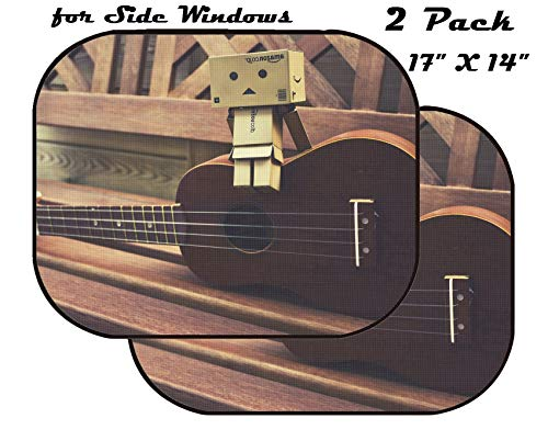 - MSD Car Sun Shade for Side Window - UV Protector for Baby and Pet - Block Sunlight - Image of Guitar Music Acoustic Musical String Instrument Sound Classical Wood Rock Classic Brown Folk Art Old