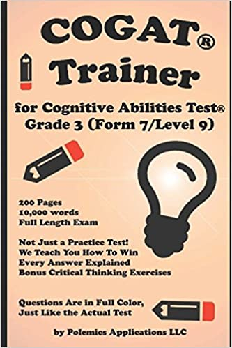 Amazon the cognitive ability trainer practice test and the cognitive ability trainer practice test and training guides for the grade 3 cognitive abilities test level 9 form 7 not just a practice test fandeluxe Gallery