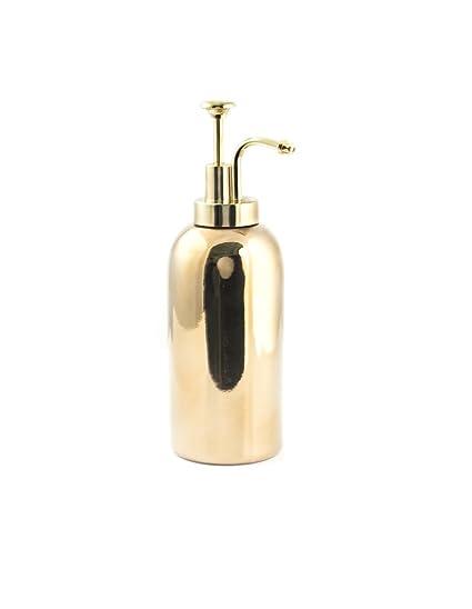 Kikkerland – Dispensador de jabón Alto, Piedra, Oro