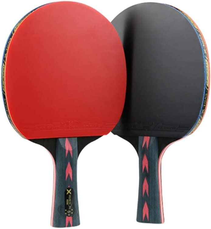 BESPORTBLE 2 Piezas de Raqueta de Tenis de Mesa de 5 Estrellas Raqueta de Pádel Profesional de Ping Pong (Agarre Horizontal)