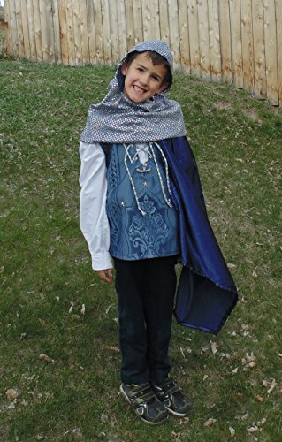 Boys 5-7 adjustable Blue and Silver Prince with cape by Fru Fru and Feathers Costumes & Gifts