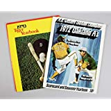 Rollie Fingers & Denny McLain Signed Yearbooks - COA - JSA Certified - MLB Programs