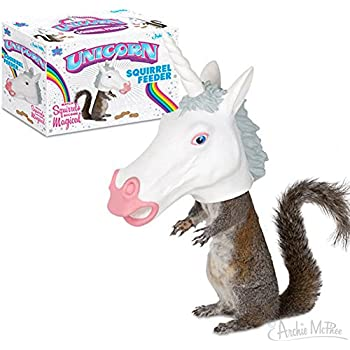 Unicorn Head Squirrel Feeder by Archie McPhee
