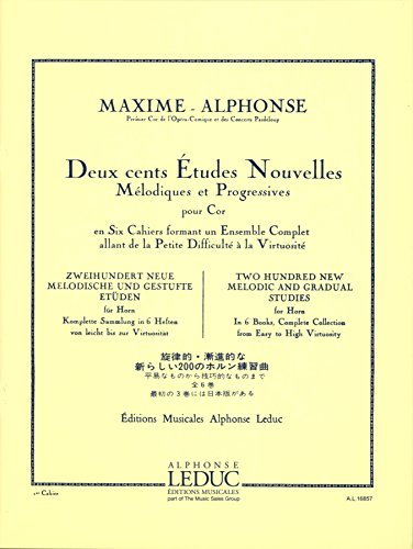 Alphonse: 200 New Melodic and Gradual Etudes - Volume 1