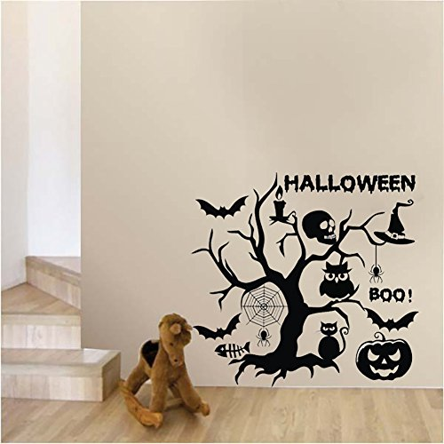 Smartcoco DIY Creative Halloween Set Wall Sticker Vivid Wall Decals Kid Room Living Room Bedroom Halloween Decors 58x55cm
