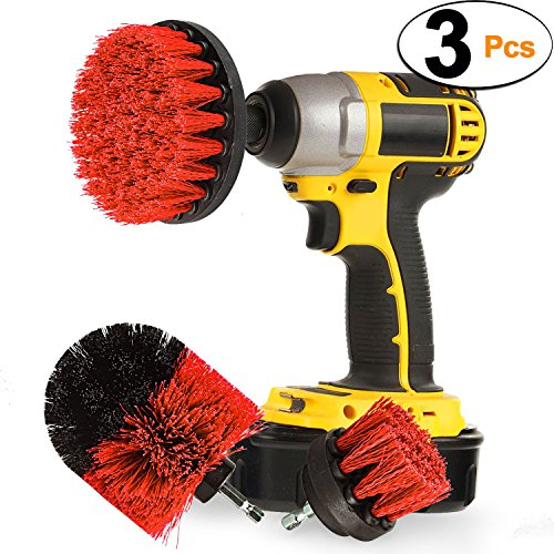 Drill Brush 360 Original Attachments 3 Pack Kit Stiff