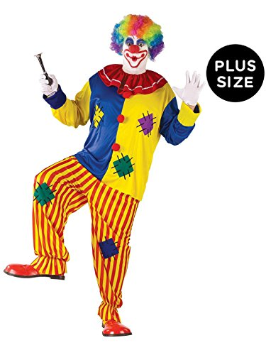 Buttons The Clown Costumes (Big Top Clown Adult Plus Costume)