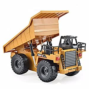 Pink Lizard HuiNa Toys1540 Six Channel 1/12RC Metal Dump Truck Charging RC Car