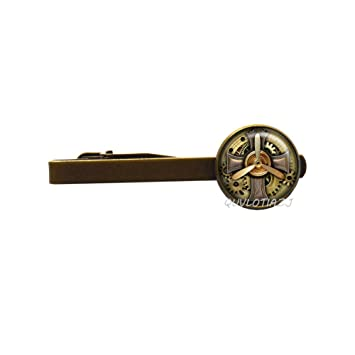 QUVLOTIAZJ: Broche para Corbata de Aviador Steampunk con Forma de ...