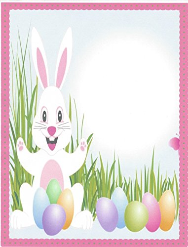 Bunny Easter Stationery (Easter Bunny & Eggs Stationery Printer Paper 26 Sheets)