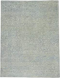 product image for Cannae Mint 9' x 12' Rectangle Hand Knotted Rug