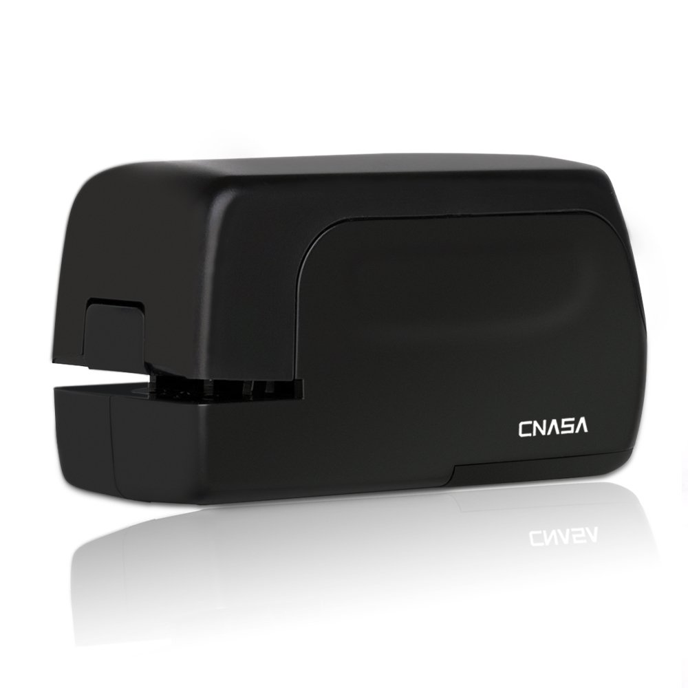 Electric Stapler-CNASA Automatic Electric Stapler for Home, Office, Classroom and School, AC Adapter Included, 15 to 20 Sheets, Black