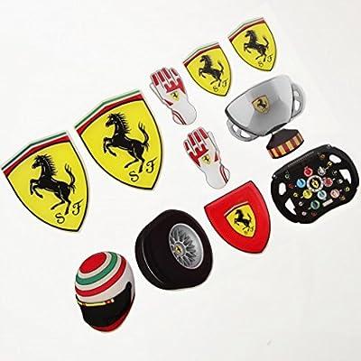 Ferrari Authentic Resin Coated 11 Piece Sticker Set 270031351: Automotive