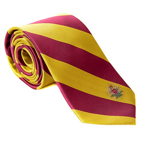Pi Kappa Alpha Fraternity Necktie Tie Greek Formal Occasion Standard Length Width pike (Striped Crest Necktie)