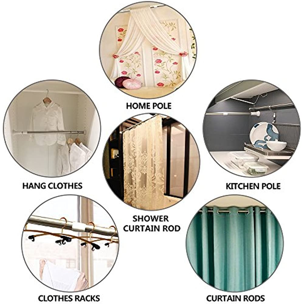 Tension Shower Curtain Rods (27in-47in) Home & Kitchen