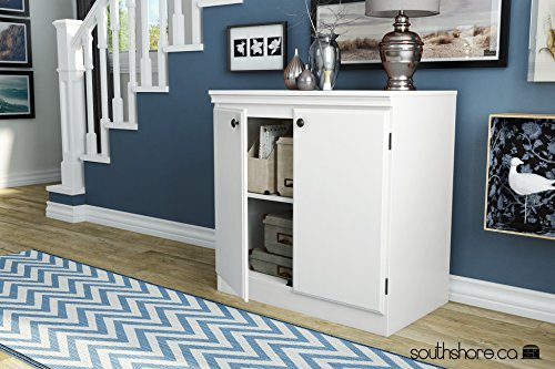 South Shore Morgan 2-Door Storage Cabinet, Pure White