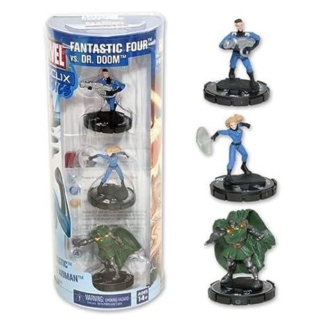 Hero Clix Marvel Fantastic Four vs. Dr. Doom Battle pack, NECA by ...