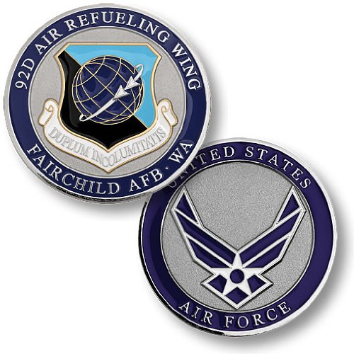 92nd Air Refueling Wing, Fairchild Air Force Base, WA Challenge Coin (Wing Challenge Coin)