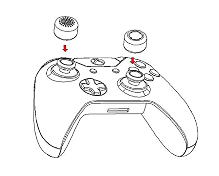 Amazon Com Controller Thumb Grips Compatible With Xbox One And Ps3