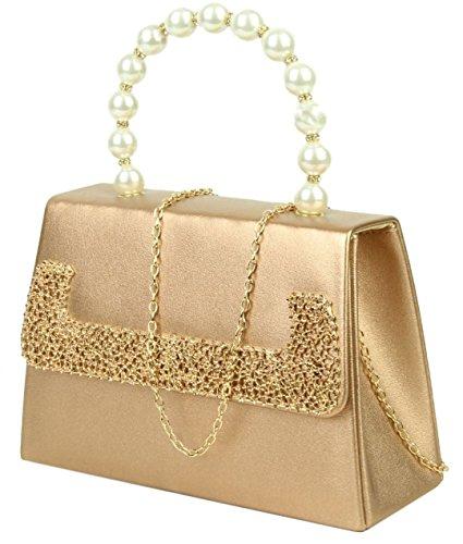 Girly Bag Champagne Clutch Pearls Girly HandBags HandBags Handle gqdRgf