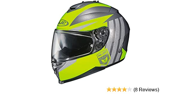 Amazon.com: HJC IS-17 Grapple Full-Face Motorcycle Helmet (Hi Viz/Silver, X-Large): Automotive