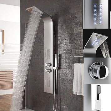 Panel de Ducha Acero Inoxidable,LED Columna de ducha con ...