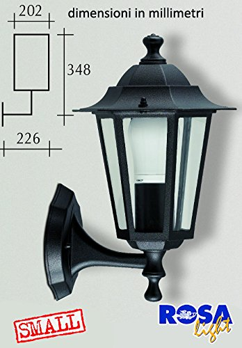 Applique in alluminio pressofuso SMALL versione SU - NERO ELTO6101
