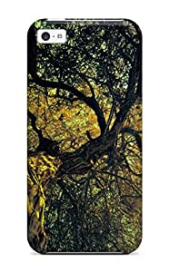 Top Quality Protection Tree Earth Case Cover For Iphone 5c
