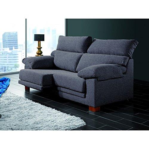 Sofá de tres plazas con asientos deslizantes y cabezales ...