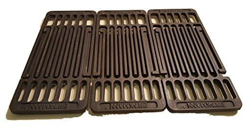 LP Gas Set of 3 Cast Iron Cooking Grid Replacement for Backyard Gas Grill BY14-101-001-05/GBC1490W ()