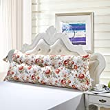 Vercart Sofa Bed Large Upholstered Headboard Filled Triangular Wedge Cushion Bed Backrest Positioning Support Pillow Reading Pillow Office Lumbar Pad with Removable Cover Mixed Color 71 Inches
