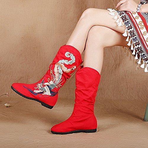 KPHY-Alte Peking Schuhe Stiefel Flache Flache Flache Schuhe Baumwolle Im Herbst Und Winter Retro Folk Freizeit Schuhe Schuhe 39 Des - 12a7c9