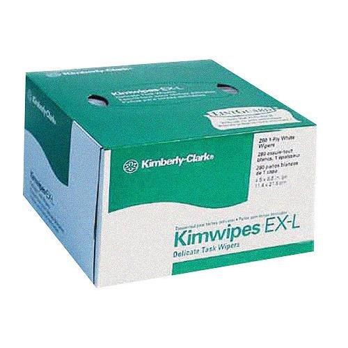キムワイプKIMTECH科学繊細なタスクWipes , 4 1 / 2 x 8 1 / 2インチ、280 Count Perボックス。   B0000A5A8E