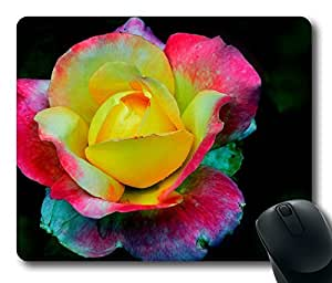 Mouse Pad Colorful Rose Desktop Laptop Mousepads Comfortable Office Mouse Pad Mat Cute Gaming Mouse Pad