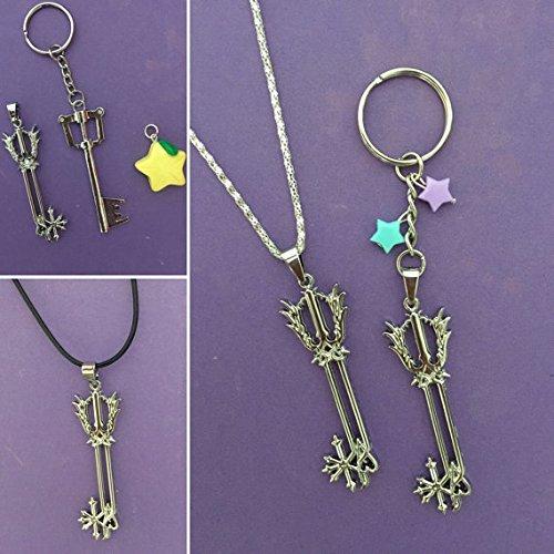 Kingdom Hearts Paopu Keychain, Kingdom Hearts Paopu, Kingdom Hearts Key Blade Necklace, Paopu Keyblade Key chain