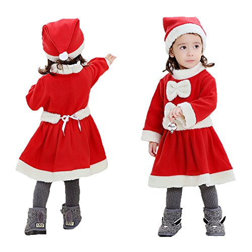 Duo Fancy Dress Costume Ideas (Miao Duo Girls Child Christmas Santa Claus Costume Novelties Clothes for Kids)