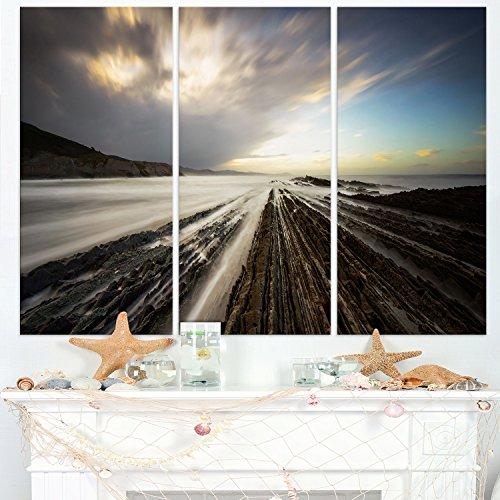 Design Art Arte Diseño Surrealista de 3Piezas Costa del Océano Atlántico Seashore Photo Multipanel Lona Decorativo,...