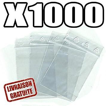 Materiel-pro Lote de 1000 Bolsas Multiusos con Cierre hermético (40 x 60 mm)