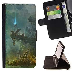 Momo Phone Case / Flip Funda de Cuero Case Cover - Fantasía Templo;;;;;;;; - Samsung Galaxy S6 Edge Plus / S6 Edge+ G928