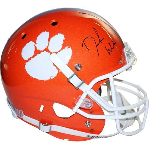 Deshaun Watson Autographed Signed Auto Clemson Tigers Deluxe Full-Size Replica Helmet Steiner - Certified Authentic