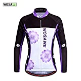 WOSAWE Womens Cycling Jersey Shirt Long Sleeves Breathable 4D Padded Pants