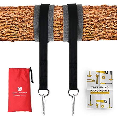 Best Price! Tree Swing Hanging Kit (Set Of 2) Holds 2200 LBS Extra Long 10 ft Straps + 2 Tree Protec...