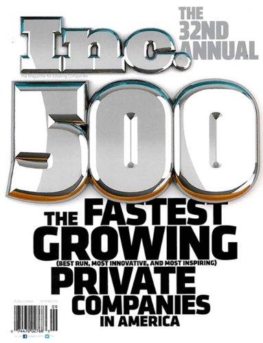 Inc 500 Magazine September 2013