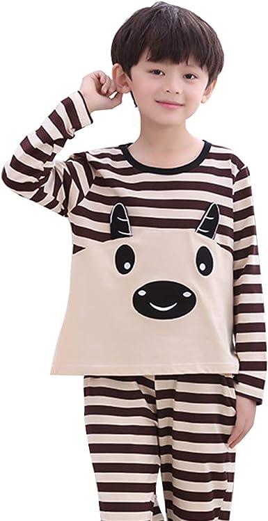 Pijamas para niños Manga Larga de algodón para niños Pijamas ...