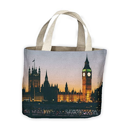 Bag Houses Parliament For Tote and Life At of Night Big Ben Shopping fHSwqxHO