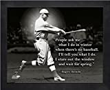 Rogers Hornsby St. Louis Cardinals Pro Quotes Photo (Size: 9'' x 11'') Framed
