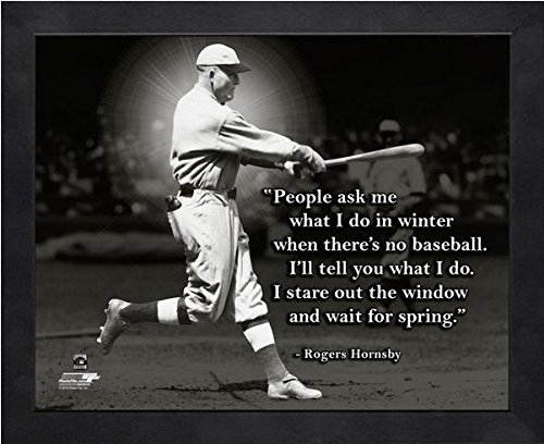 Rogers Hornsby St. Louis Cardinals Pro Quotes Photo (Size: 9'' x 11'') Framed by Photo File