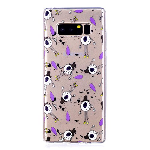 Funda Galaxy Note 8 , Carcasa para Samsung Note 8, Cristal Suave Gel Silicona TPU Carcasa para Samsung Galaxy Note 8 N950F N950FD (6.3 Pulgadas) E-Lush Ultra Claro delgado Blanda Case Cover [Slim Fit] Ojos