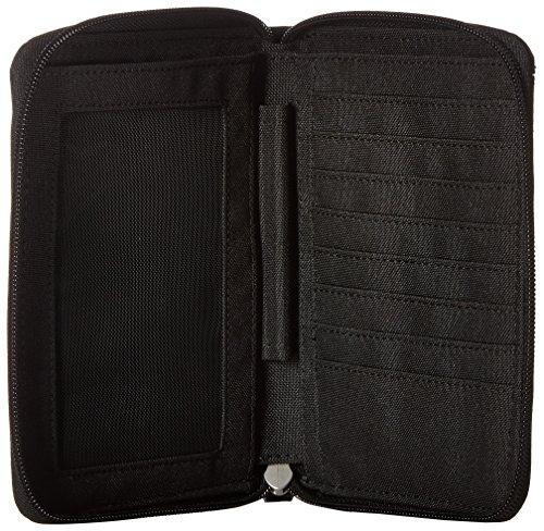 5100kxcLIXL - Pacsafe RFIDsafe LX150 Anti-Theft RFID Blocking Passport Wallet, Black