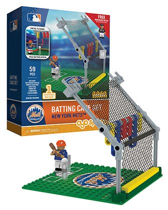 - Oyo Sportstoys MLB New York Mets Batting Cage Set with Minifigure, Small, White